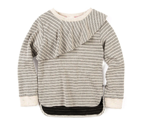 Appaman Millie Top Stripe Slate