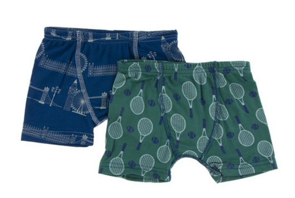 Kickee Pants Boxer Briefs Set London Cityscape & Ivy Tennis