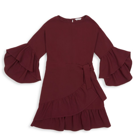 Habitual Girl Dress Burgundy