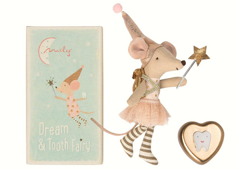 Maileg Tooth fairy, Big sister mouse w. metal box