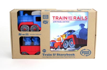 Green Toys Train off the Rails