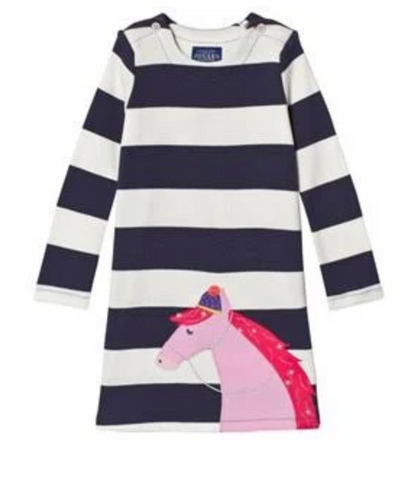 Joules Kaye Applique Dress Unicorn