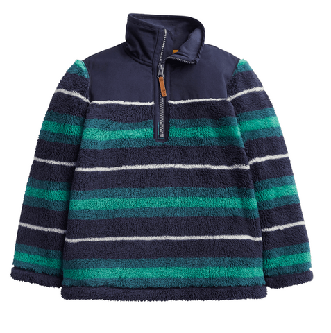 Joules Woozle Half Zip Fleece Blue Green