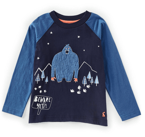 Joules Raymond Glow in The Dark Raglan Sleeve Tee