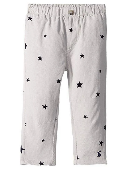 Joules Kids Soft Cord Trousers Grey Star