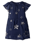 Joules Girls Emma Sequin & Embroidered Star Dress