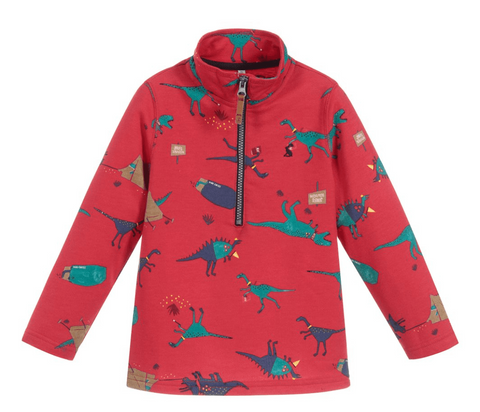 Joules Half Zip Red Dino