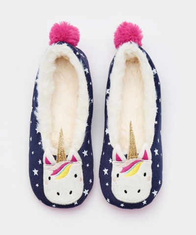 Joules Girls Dream Character Unicorn Slippers