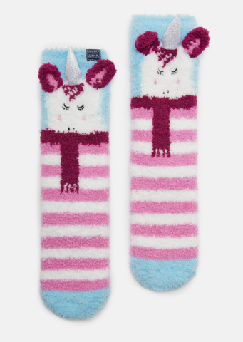 Joules Fluffy Socks Unicorn