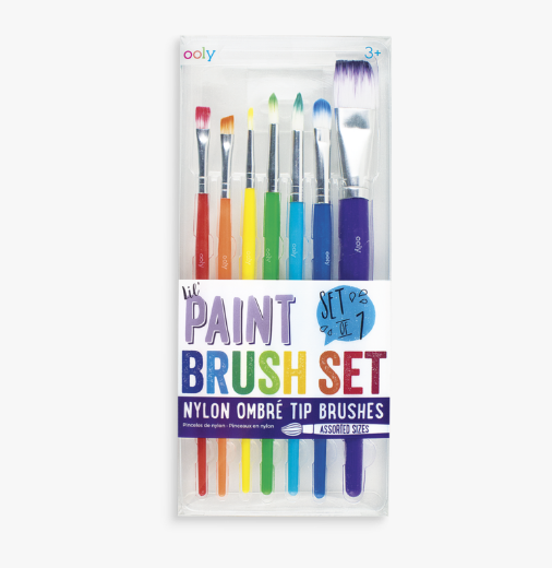 OOLY The Brush Works Paint Brushes Set of 7