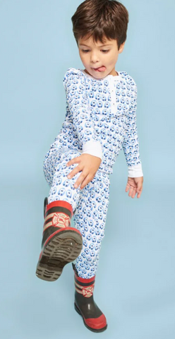 RRR Kids Love Birds Pajamas Blue