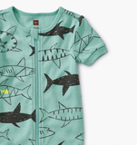 Tea Collection Short Sleeve Baby Pajamas Swimming with Sharks