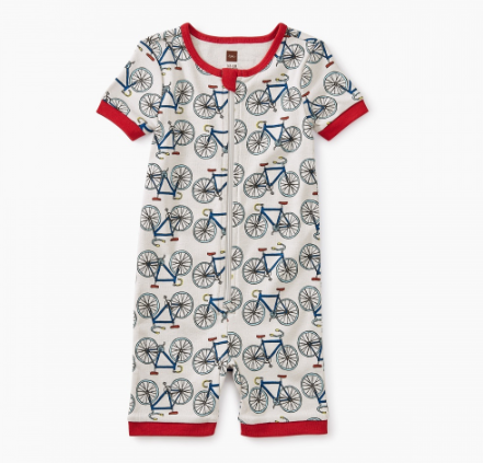 Tea Collection Short Sleeve Baby Pajamas I like Bikes