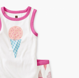 Tea Collection Ice Cream Graphic Tank Pajamas