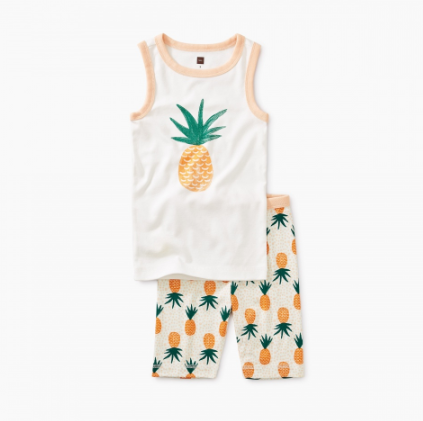 Tea Collection Pineapple Graphic Tank Pajamas