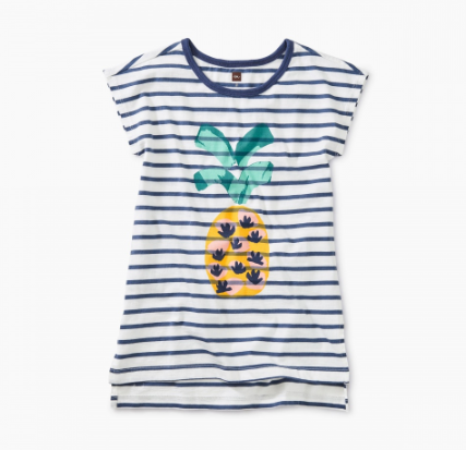 Tea Collection Pineapple Hi-Lo Tunic