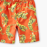 Tea Collection Printed Swim Trunks Tossed Tiger
