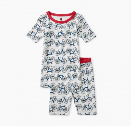 Tea Collection Printed Shortie Pajamas I like Bikes