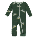 Kickee Pants Print Coverall with Zipper Topiary Italian Car