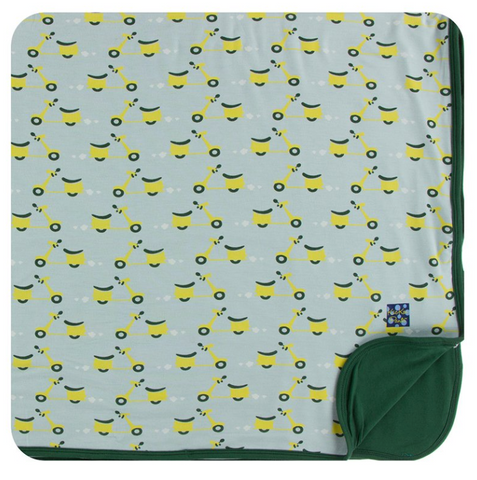 Kickee Pants Print Toddler Blanket Spring Sky Scooter