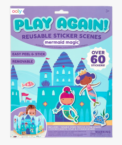 Ooly Play Again Reusable Sticker Scenes Assorted Sugar Snap Pea
