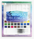 OOLY Chroma Blends Travel Watercolor Palette - 27 Piece Set