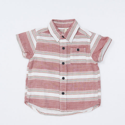 Bitz Kids Red Striped Shirt with Collar