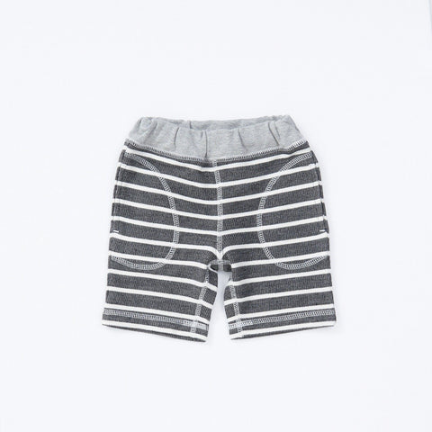 Bitz Kids Charcoal Striped Shorts