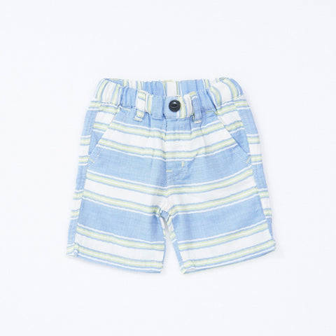 Bitz Kids Blue and Green Striped Shorts