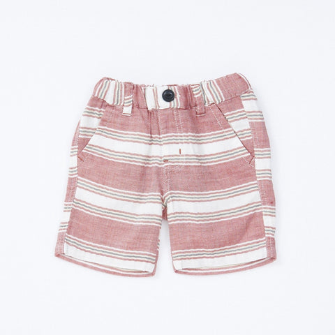Bitz Kids Red Striped Shorts