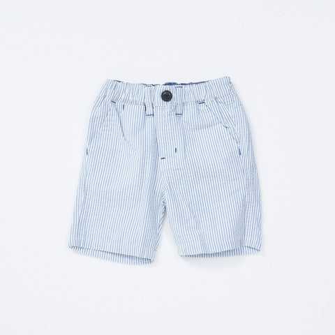 Bitz Kids Blue Seersucker Shorts
