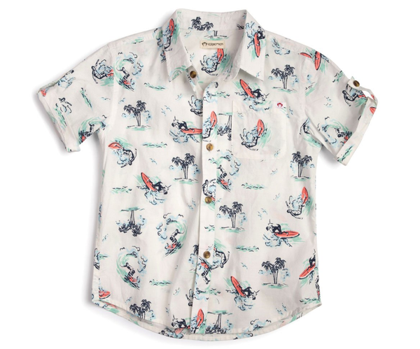 Appaman Surf Waves Pattern Shirt