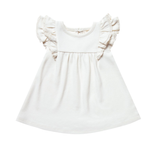 Quincy Mae Flutter Dress Ivory