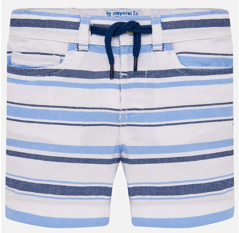 Mayoral Striped Bermuda Shorts Blue