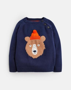 Joules Baby Barney Bear in a Hat Sweater