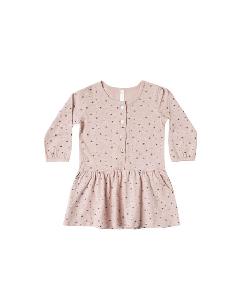 R&C Mini Stars Button Up Jersey Dress