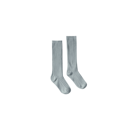 Rylee and Cru Solid Knee Socks Dusty Blue
