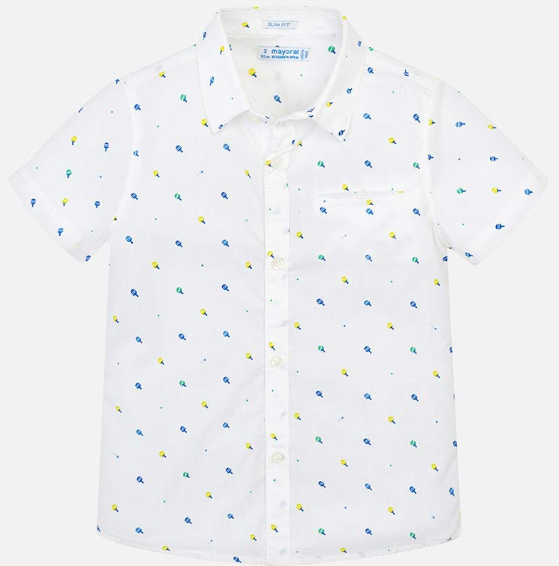 Mayoral White S/S Shirt with Paddles