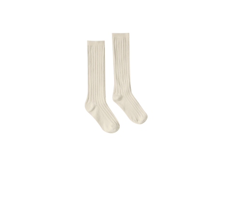 Rylee and Cru Solid Knee Socks Wheat