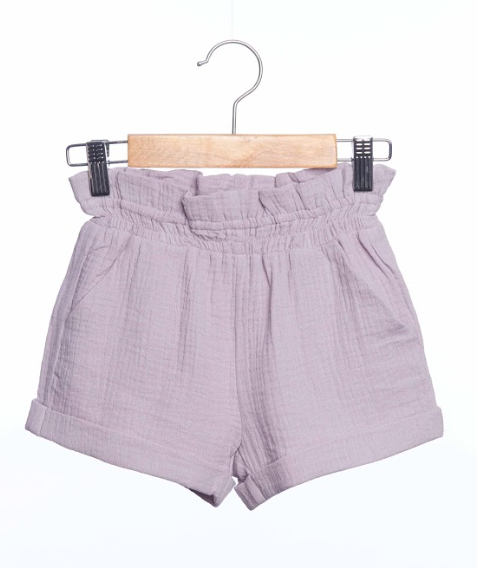 Siaomimi High Waisted Shorts Mauve Crinkle