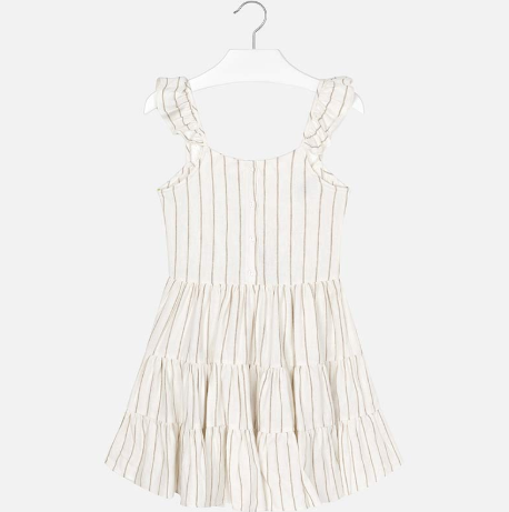 Mayoral White Stripes Dress