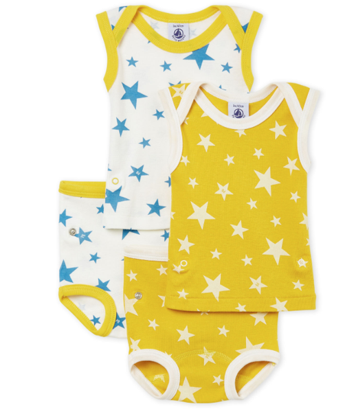 Petit Bateau 2 pack Star Print SS Top/Bottom Set