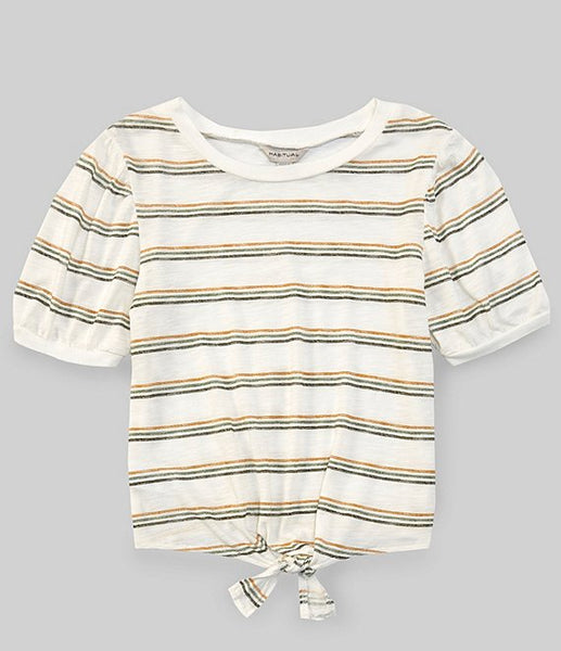Habitual Brynlee Stripe Puff Sleeve
