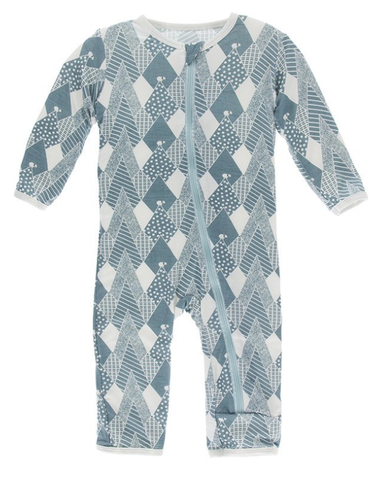 Kickee Pants Coverall Dusty Sky Mountains