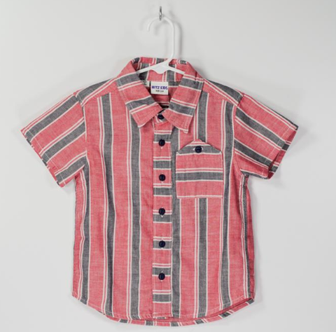 Bitz Kids Shirt RR Red and Navy Stripe