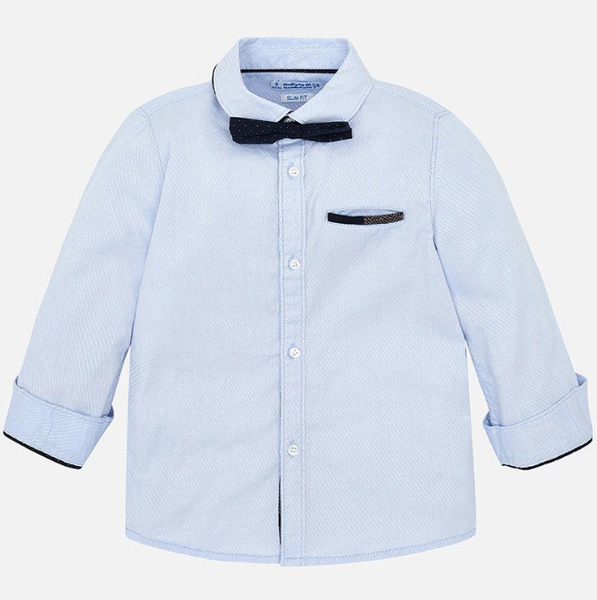 Mayoral Sky Blue top with bow tie