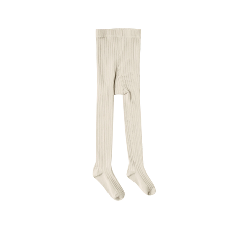 Rylee and Cru Solid Ribbed Tights Wheat