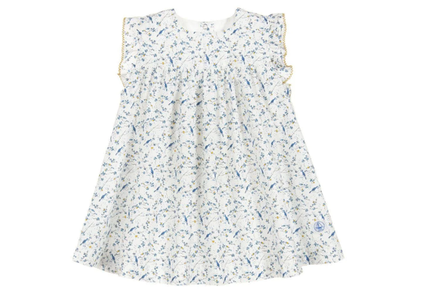 Petit Bateau 2 pc set floral dress and bloomers