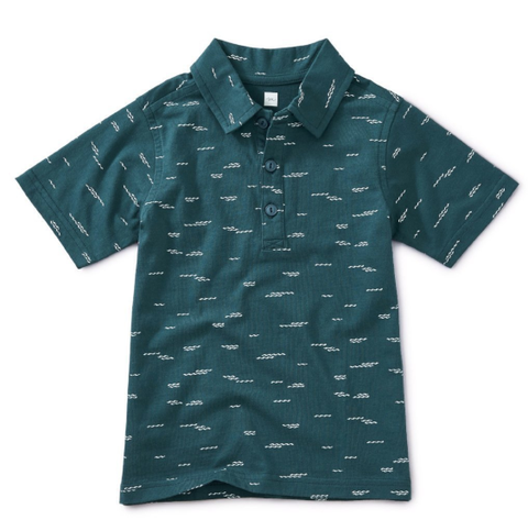 Tea Collection Printed Polo Tranquil Waves
