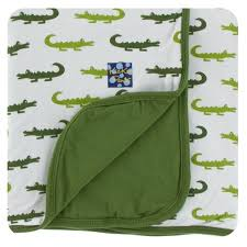 KP Print Toddler Blanket Natural Crocodile